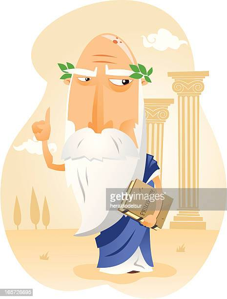stockillustraties, clipart, cartoons en iconen met filósofo de la antigua grecia - classical greek style