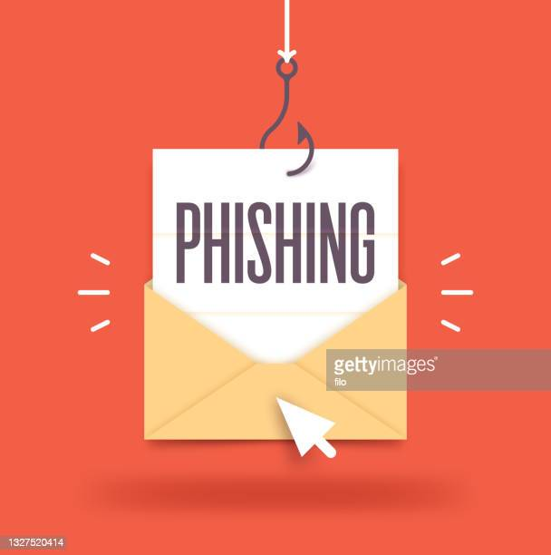 phishing email hacking fraud envelope - scammer stock illustrations