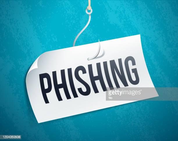 phishing scam emailing concept - phishing stock illustrations