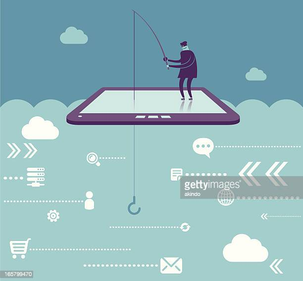 phishing - personal information stock illustrations, clip art, cartoons, & icons