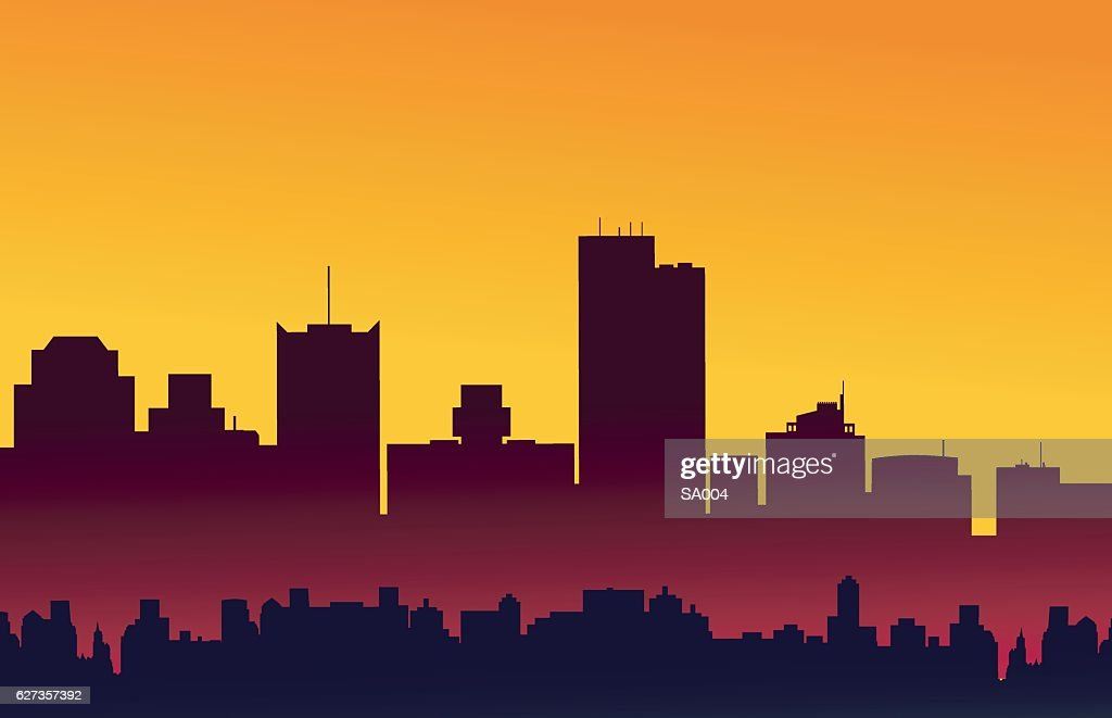 Phoenix Arizona Sunset Skyline - Vector