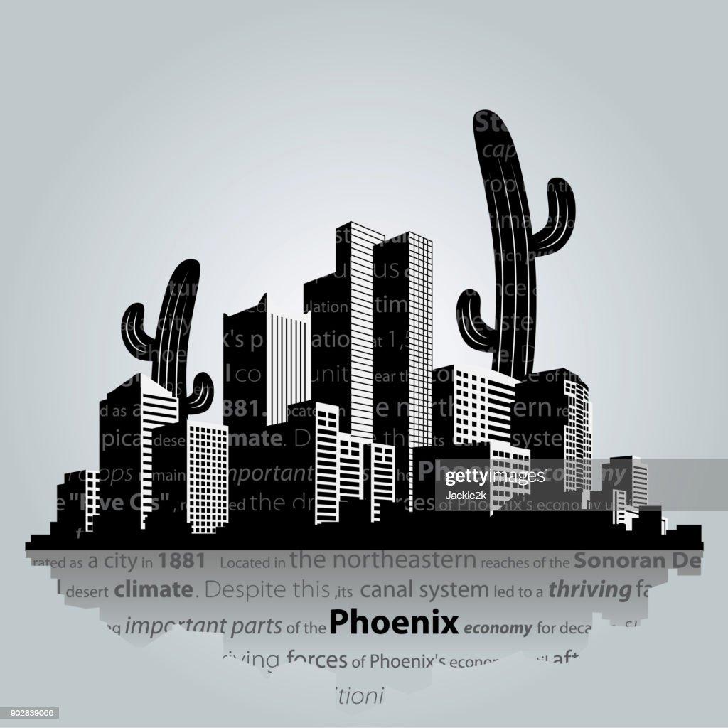 Phoenix vector cityscape.