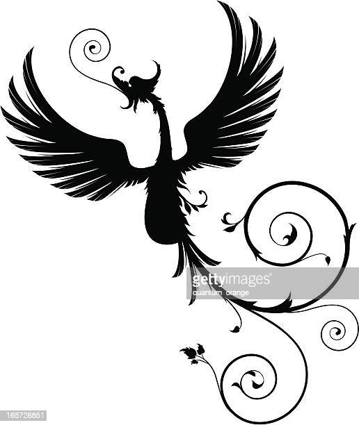 phoenix - phoenix mythical bird stock illustrations, clip art, cartoons, & icons