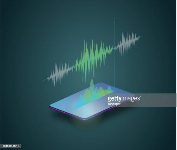 phone audio - audio equipment stock illustrations, clip art, cartoons, & icons