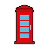 phone booth isolated icon