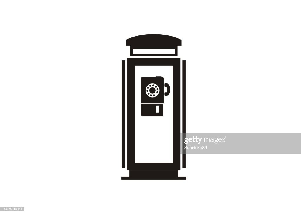 phone booth simple icon