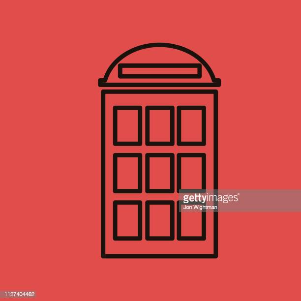 Phone Booth - Thin Line Phone Icon