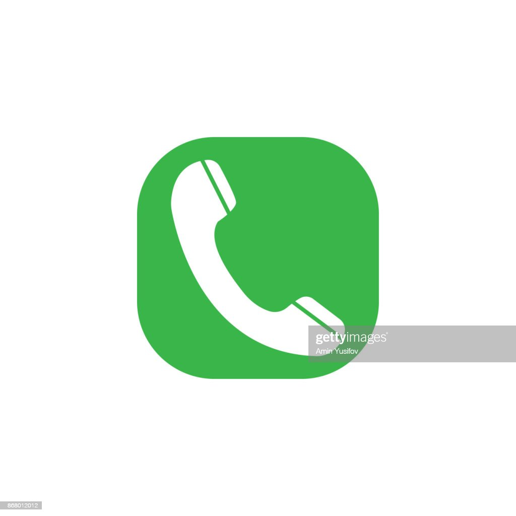 Phone Call flat icon, incoming and vintage