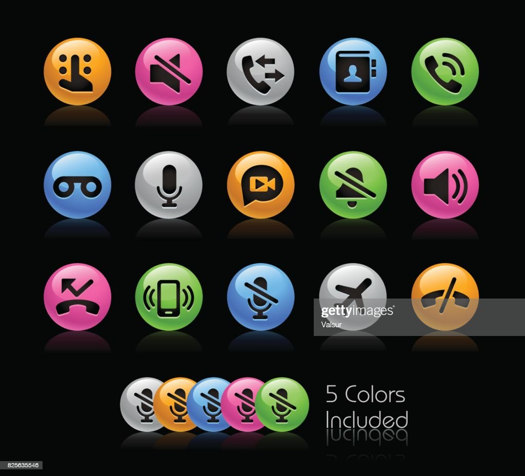 Phone Call Interface Icons // Gelcolor Series