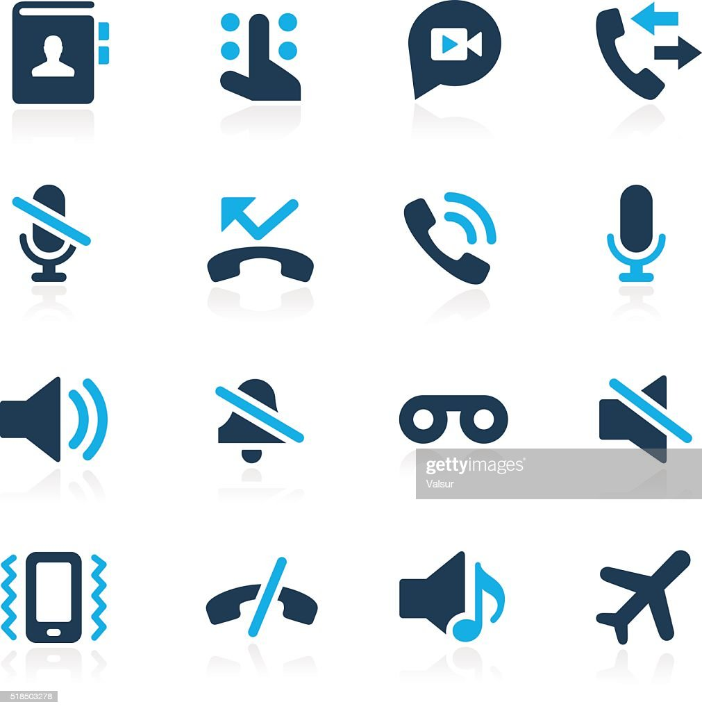Phone Calls Interface Icons // Azure Series