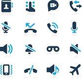 Phone Calls Interface Icons // Azure Series