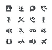 Phone Calls Interface Icons