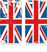 Phone covers set with flags of United Kingdom