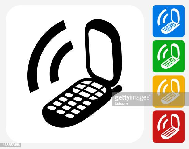 Phone Icon Flat Graphic Design