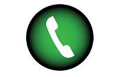 phone icon trendy flat design.vector and illustration