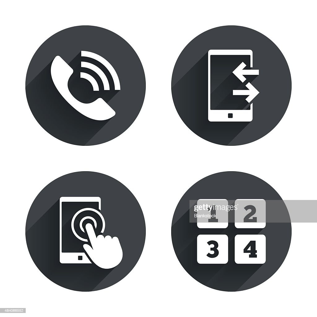 Phone icons. Call center support symbol