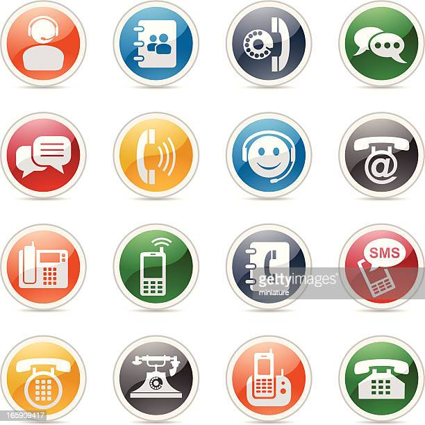 phone icons - answering machine stock illustrations, clip art, cartoons, & icons