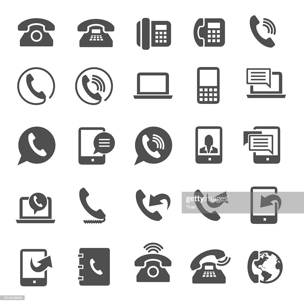 Phone icons : stock illustration