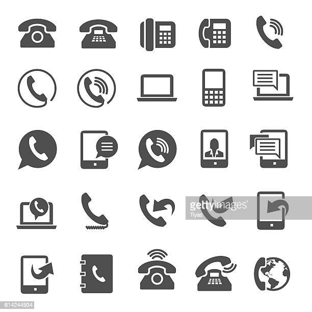 phone icons - telephone stock illustrations