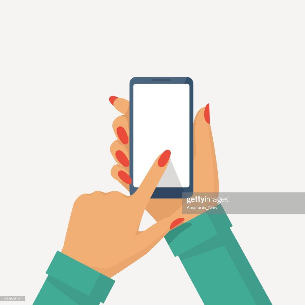 Phone in female hand