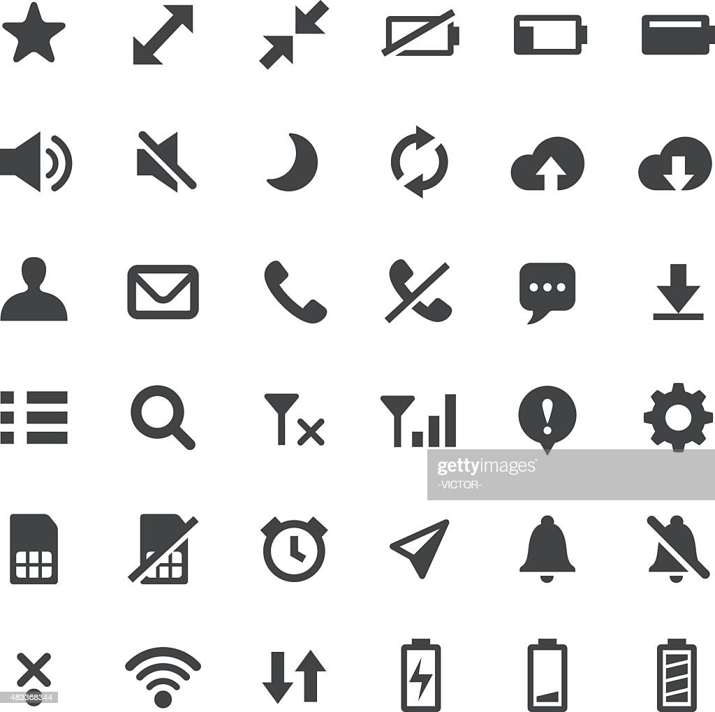 Phone Indicator Icons - Big Series