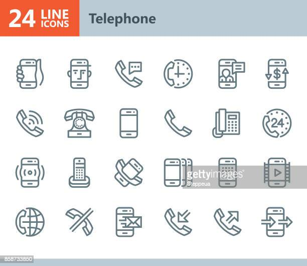 Phone - line vector icons