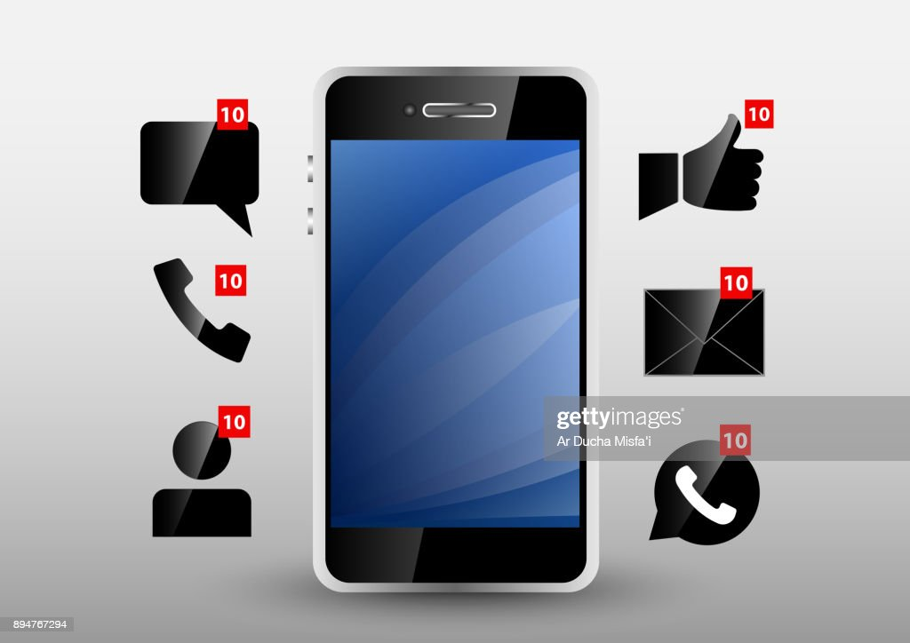 phone notification from application glas design