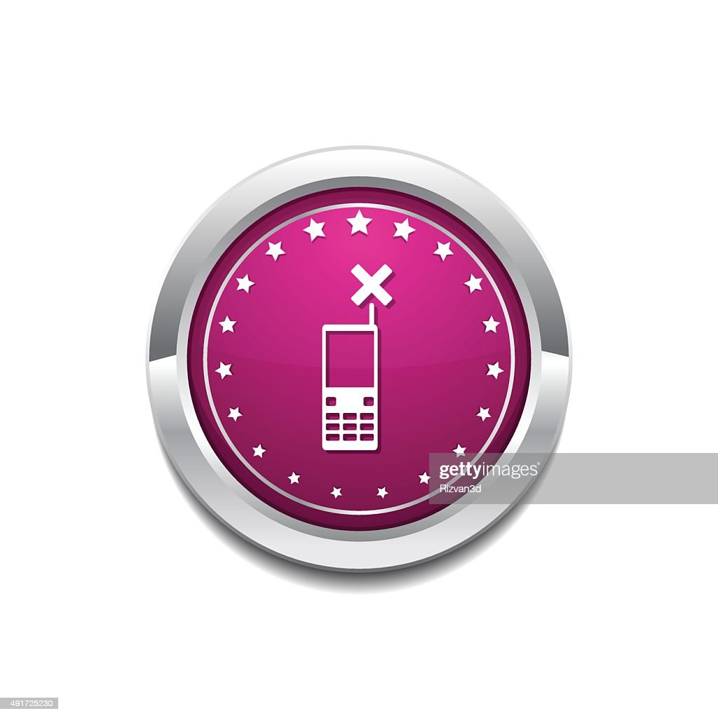 Phone Pink Vector Button Icon