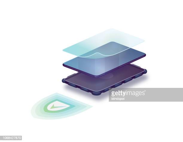 phone protection - phone cover stock illustrations