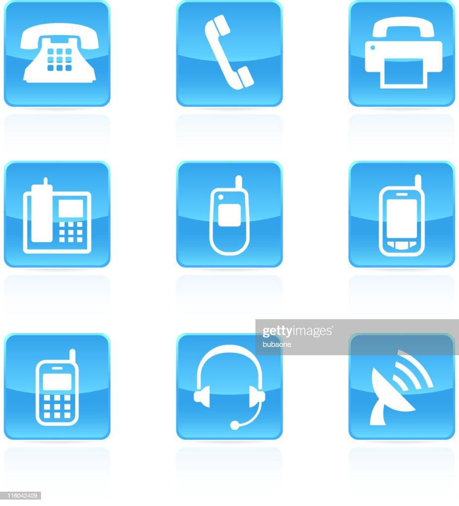 phone royalty free vector icon set