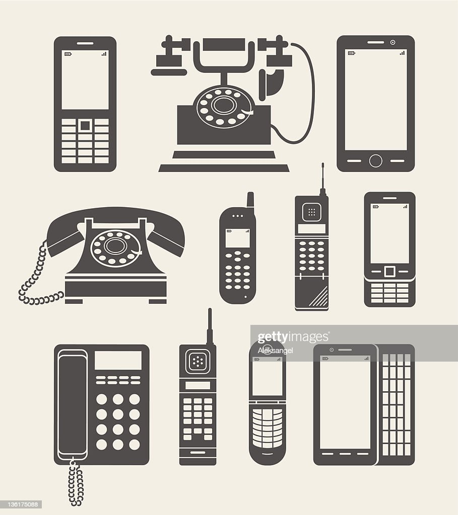 phone set simple icon