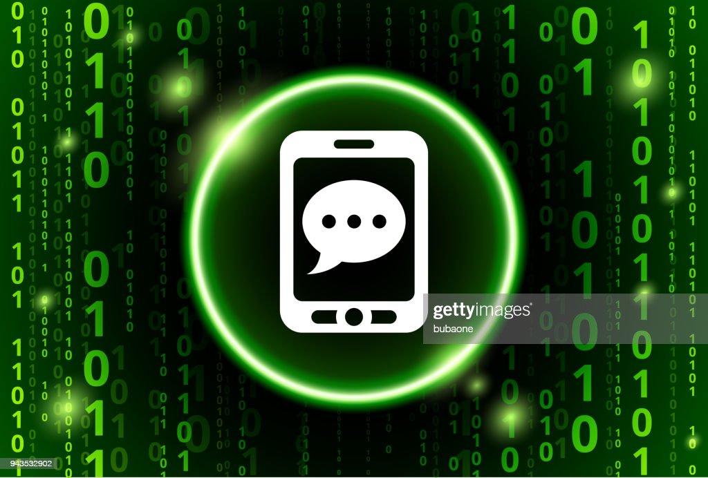 Muster Stock Sms Handy Hintergrund Binärcode Vektor