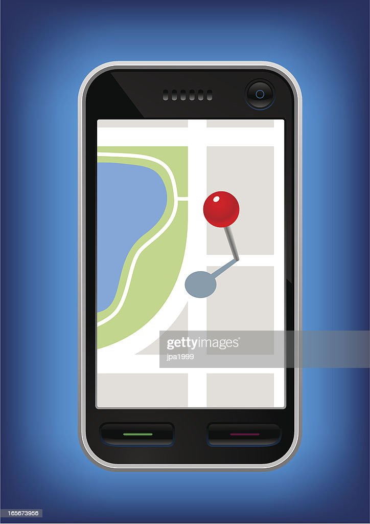 Phone with a mapping application