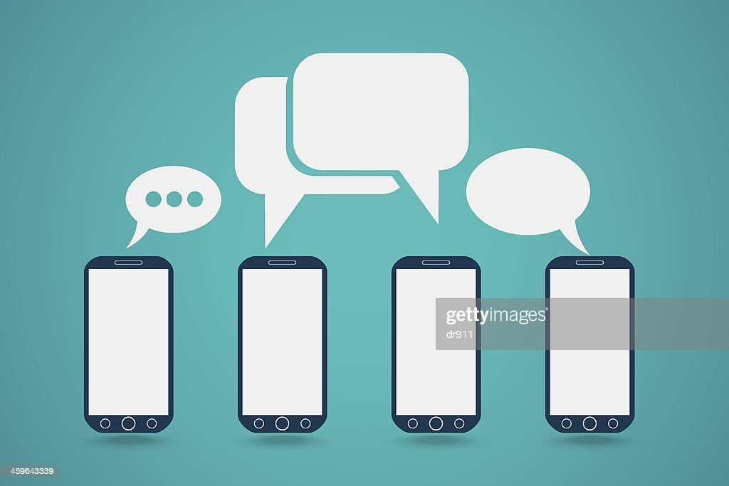 Phone with bubble speech
