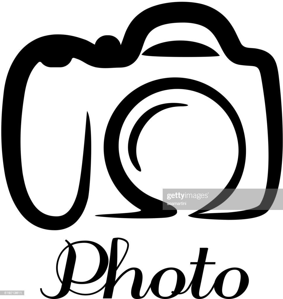 Photo camera emblem