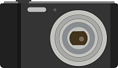 Photo camera flat icon symbol. Vector photographer equipment