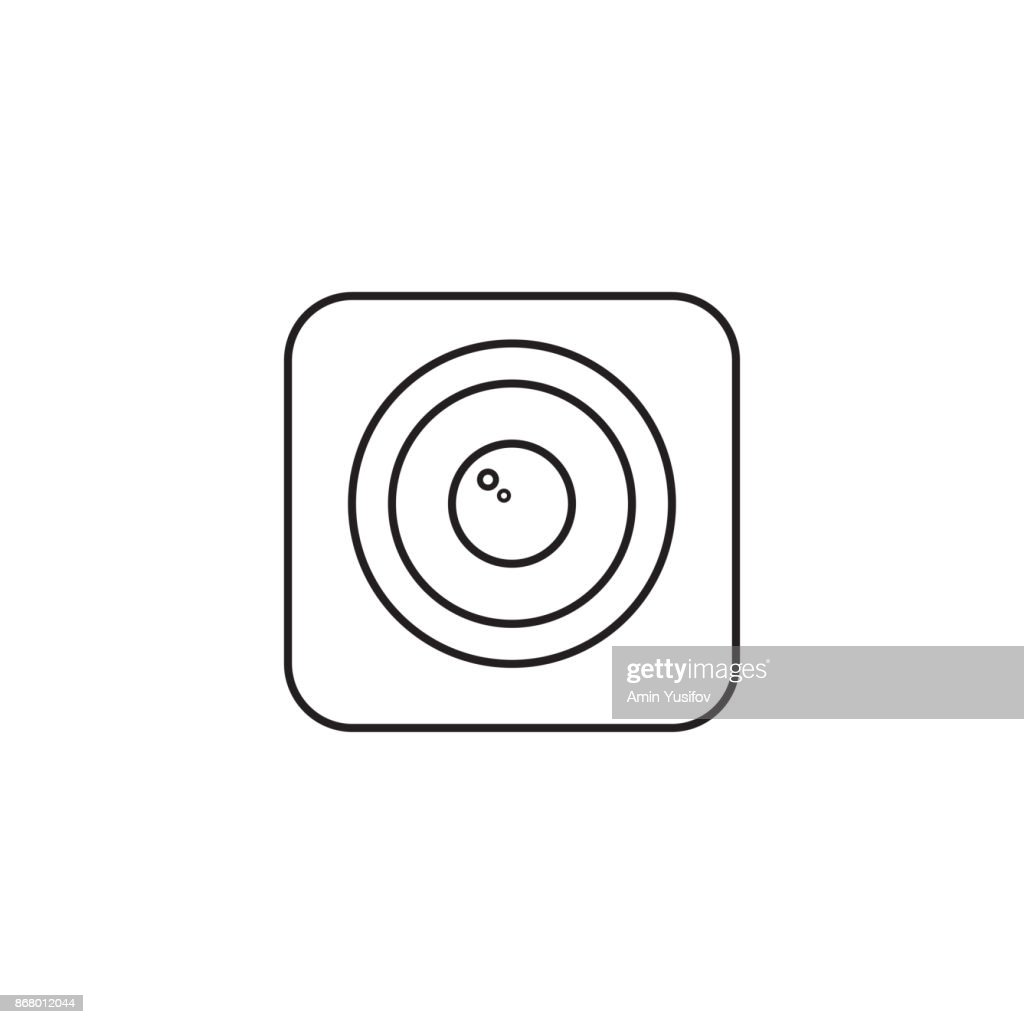 Photo Camera line icon, Modern sign for mobile