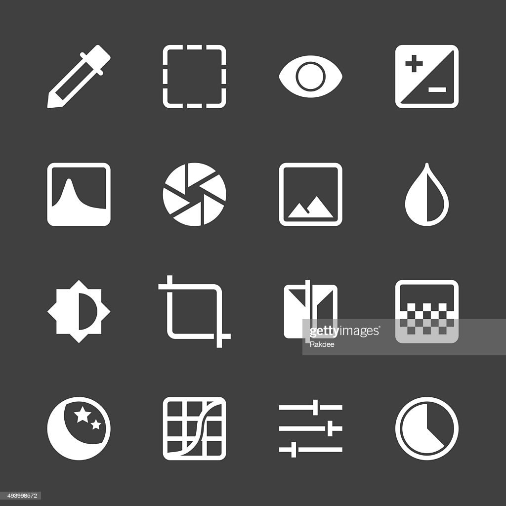Photo Editor Icons - White Series