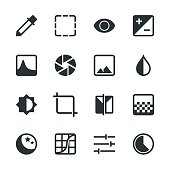 Photo Editor Silhouette Icons