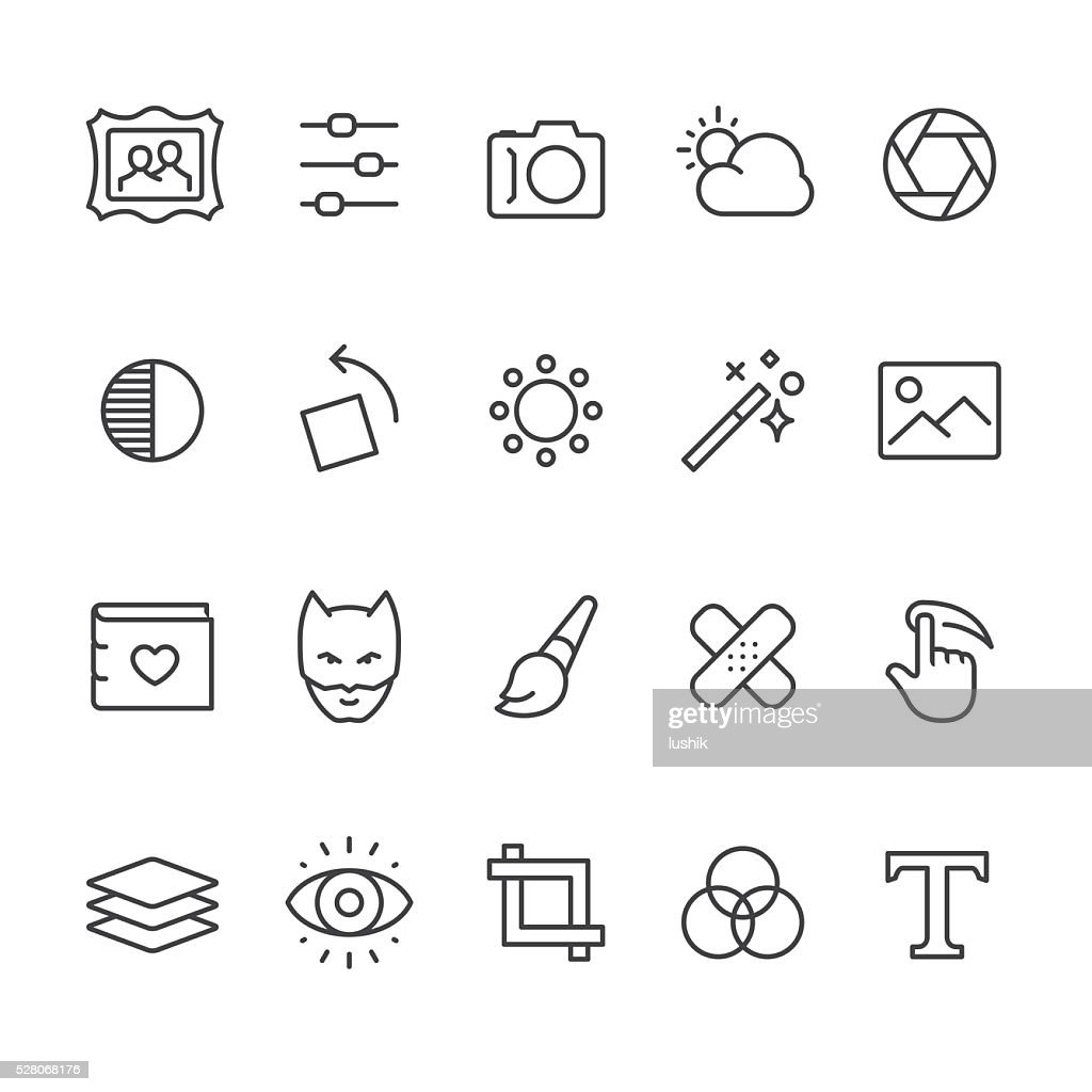 Photo Editor vector icons : stock illustration
