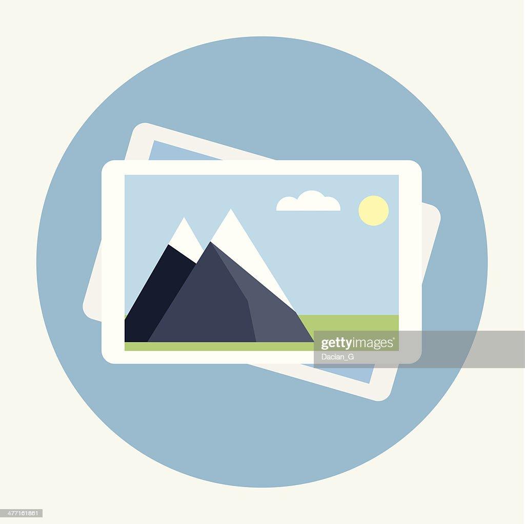 Photo flat icon