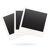 Photo frame blanks isolated on white background. Vector illustration.