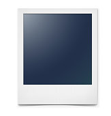 Photo frame isolated on a white background with a realistic paper texture and shadow.