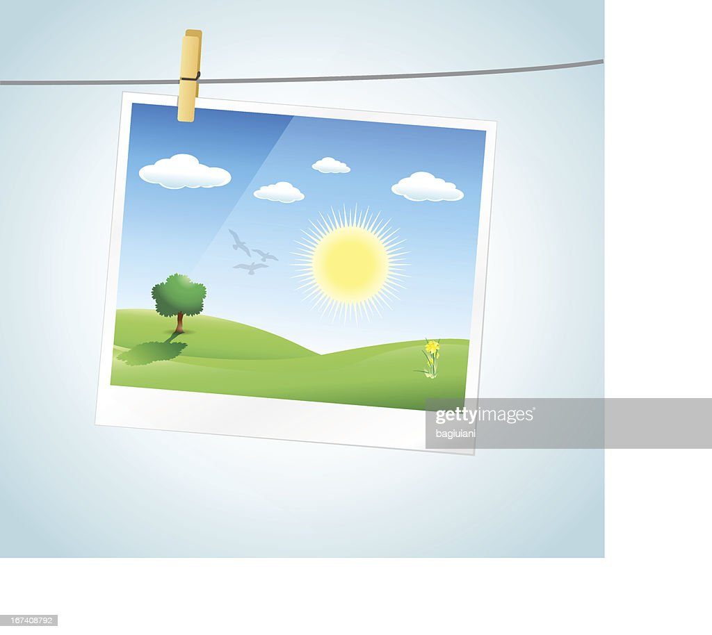 Photo Frame Spring BAckground : Vector Art