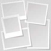 Photo Frame template with sharp transparent shadow.