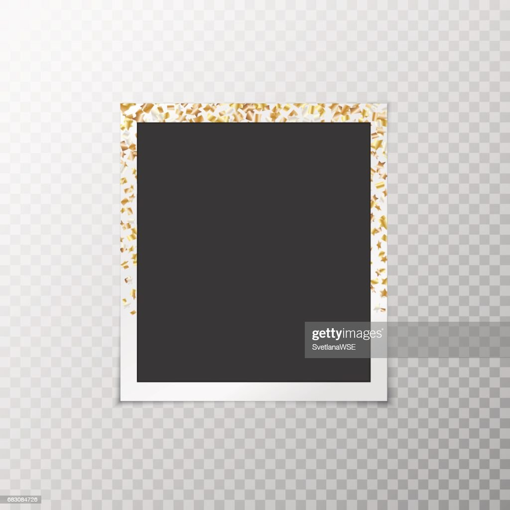 Photo frame with gold stars