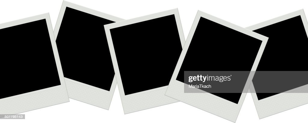 Photo frames background. Instant film.