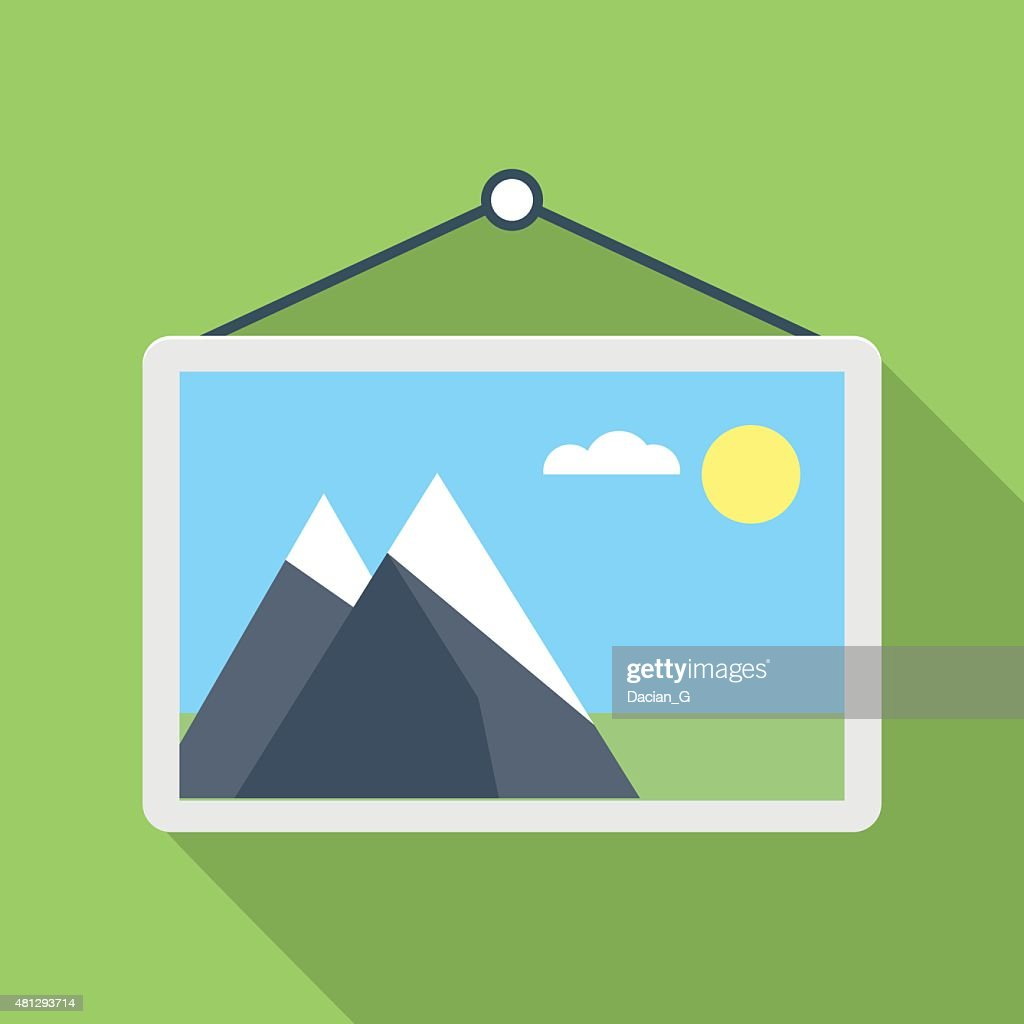 Photo gallery flat icon