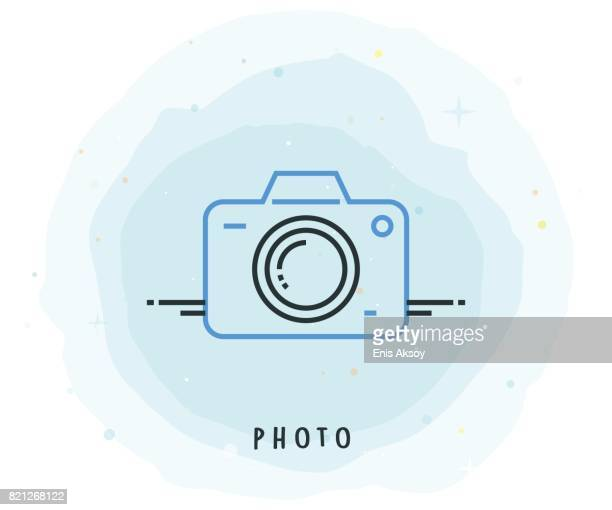 Photo Icon with Watercolor Patch