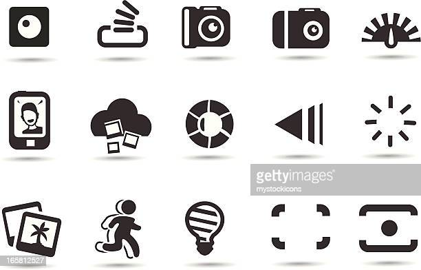 photo interface icons - light meter stock illustrations, clip art, cartoons, & icons